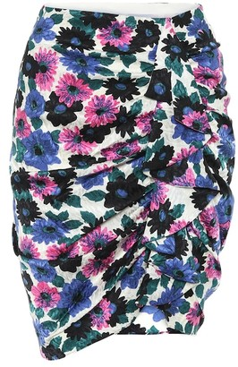 Veronica Beard Ravello floral stretch-silk skirt