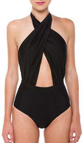 6 Shore Road Cabana Crisscross Halter One Piece