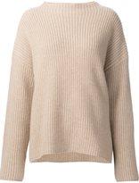 Nili Lotan lateral slit ribbed sweater