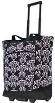 Olympia Rolling Shopper Tote - Damask Black Weekender Bags