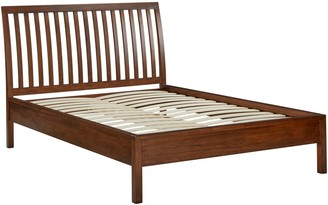 John Lewis & Partners Medan Bed Frame, Double, Dark Wood