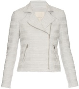 Rebecca Taylor Cotton-blend tweed biker jacket