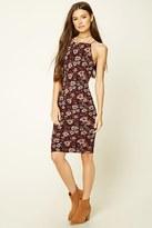 Forever 21 FOREVER 21+ Floral Print Square-Neck Dress