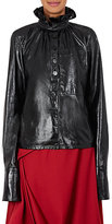 J.W.Anderson Women's Ruffle-Trimmed Leather Blouse