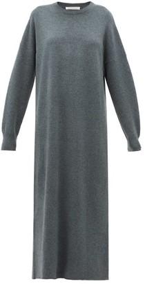 Extreme Cashmere - No.106 Weird Wave Stretch-cashmere Sweater Dress - Womens - Khaki