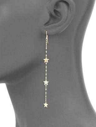Saks Fifth Avenue 14K Gold Long Mirrored Chain Star Drop Earrings