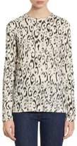 Proenza Schouler Leopard-Print Cotton Long Sleeve Tee