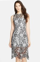 Julia Jordan Two-Tone Lace Fit & Flare Dress