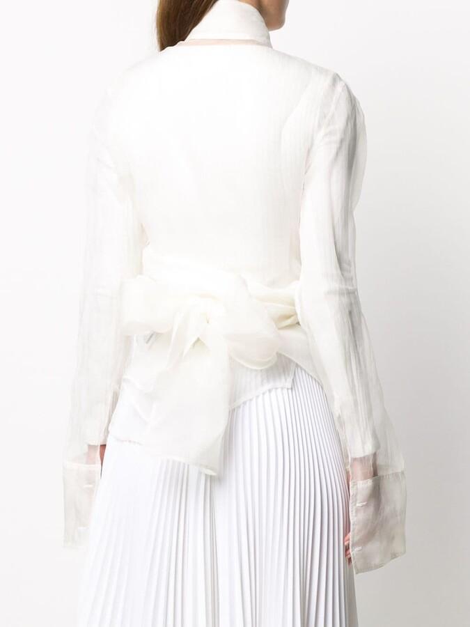 Thumbnail for your product : Marc Le Bihan Ruffled Wrap-Waist Blouse