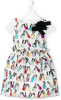 Simonetta nail polish print brocade dress - kids - Cotton/Polyamide/Polyester/Viscose - 8 yrs