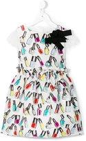 Simonetta nail polish print brocade dress - kids - Cotton/Polyester/Polyamide/Viscose - 12 yrs
