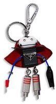 Prada Vlad Saffiano Leather Robot Keychain