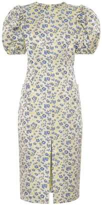 Rotate by Birger Christensen Katarina floral jacquard dress