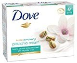 Dove Purely Pampering Beauty Bar, Pistachio Cream with Magnolia 4 oz, 8 Bar
