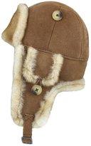 Zavelio Trapper Trooper Leather Aviator Bomber Genuine Shearling Sheepskin Hat XXL