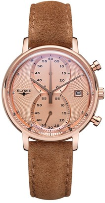Elysee Unisex Adult Analogue Quartz Watch with Leather Strap 83824