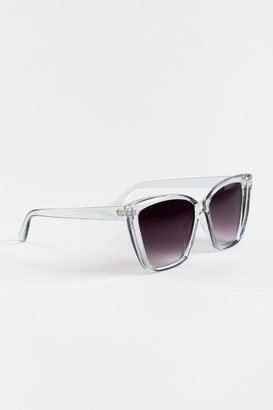 francesca's Gracleen Oversized Square Sunglasses - Clear