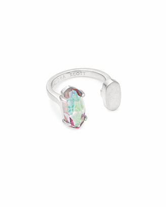 Kendra Scott Pryde Silver Open Ring in Dichroic Glass