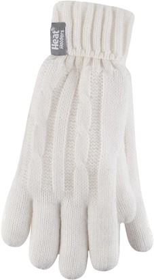 HEAT HOLDERS Ladies Cable Knit Heatweaver Thermal Gloves (Small/Medium
