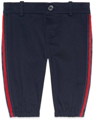 Gucci Baby gabardine trousers with patch