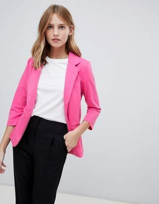 Ichi Jersey Blazer-Pink