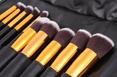 Beau Belle Makeup Brushes - 10pcs Kabuki Brush Set - Professional Makeup Brushes - Kabuki Makeup Brush Set - Makeup Brush Set + Makeup Bag
