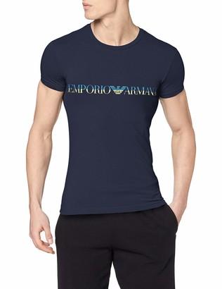 Emporio Armani Men's Fashion Waistband-Megalogo T-Shirt
