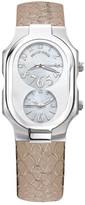 Philip Stein Teslar Women&s Large Dual Time Dial Watch