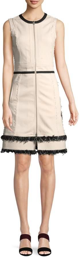 Derek Lam Women's Denim Fringe Dress