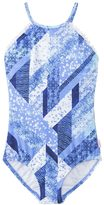 Seafolly Girls' Indie Dreamer High Neck One Piece Swimsuit (6yrs14yrs) - 8137078