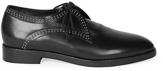 Alaia Studded Leather Oxford Loafers