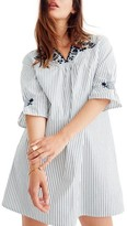 Madewell Women's Stripe Embroidered Breeze Dress