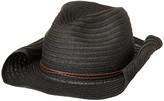 San Diego Hat Company PBC2443OS Paperbraid Cowboy w/ Double Braid Trim (Black) Caps
