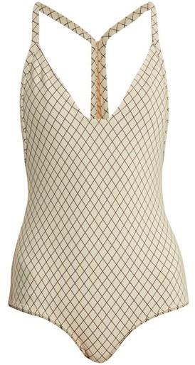 Made by Dawn Traveler Racer Back Swimsuit - Womens - Cream
