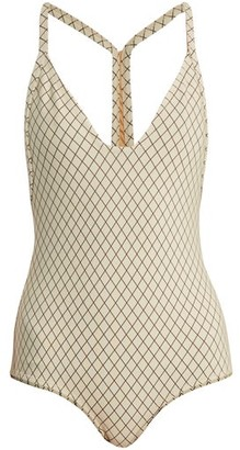 Made by Dawn Traveler Racer-back Swimsuit - Womens - Cream