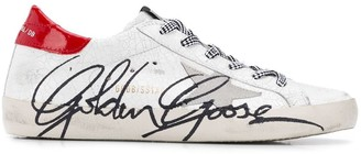 Golden Goose cracked star trainers