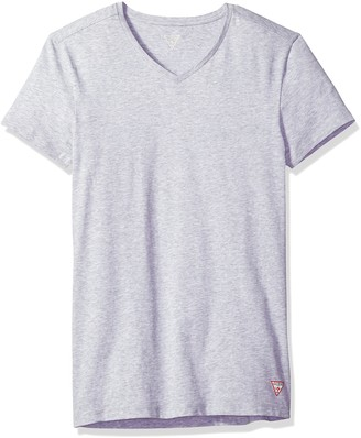 GUESS Men's Logo V Neck T-Shirt