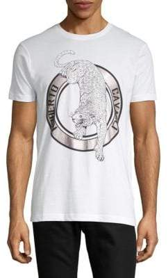 Roberto Cavalli Graphic Short-Sleeve Cotton Tee