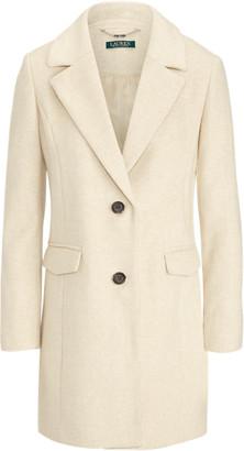 Ralph Lauren Herringbone Wool-Blend Coat