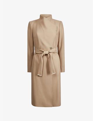 Ted Baker Rose wrap wool-blend coat