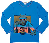 "Billy Bandit ""I Am Not A Morning Person"" T-Shirt-BLUE"