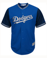 Majestic Men's Los Angeles Dodgers Blue Steel Cool Base Jersey