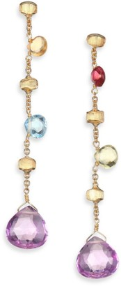 Marco Bicego Paradise Semi-Precious Multi-Stone Multicolor 18K Yellow Gold Drop Earrings