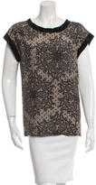 Dolce & Gabbana Silk Lace Print Top