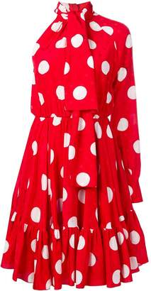 MSGM ruffled polka dot dress