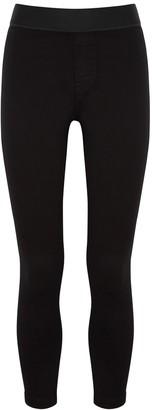 J Brand Dellah Black Stretch-denim Leggings