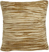 "Horchow Austin Horn Classics Antoinette Pleated Silk Pillow with Feather/Down Insert, 18""Sq."