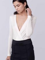 Diane von Furstenberg Lala Long Sleeve Bodysuit