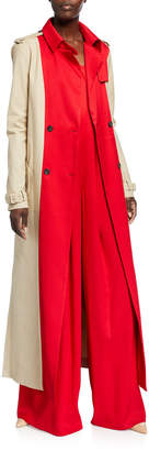 Hellessy Raphael Colorblocked Cotton Trench Coat