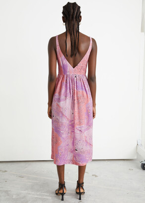 And other stories Printed Sleeveless Midi Dress